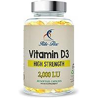 Vitamin D3 2000IU (50 μg) di Rite-Flex - Supporto per sistema osseo, articolare e immunitario 365 Softgels facili da deglutire per protezione e nutrimento per un anno intero