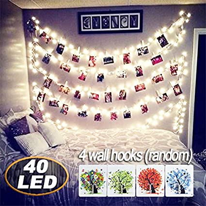 Amazon Com Abeyongd 40 Led Photo Clips String Lights 18ft Usb