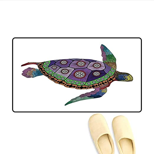 Alfombrilla de baño Tortuga Marina con Coloridos Tatuajes de ...