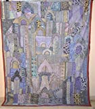 Vintage Embroidered Wall Hanging Heavy Beaded Work Bedspread Cover Tapestry VP13