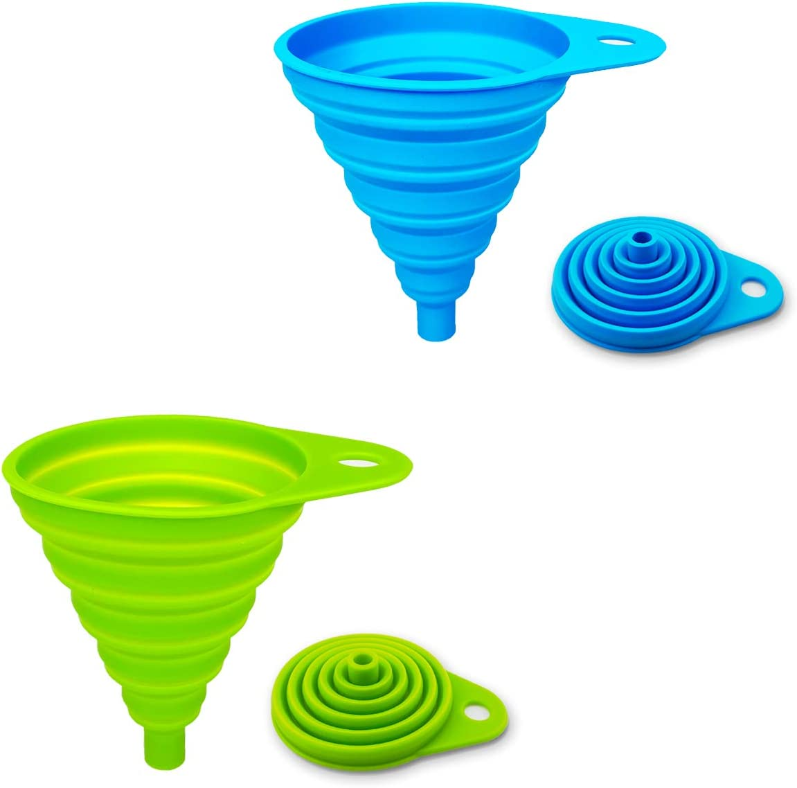 Silicone Foldable Small Collapsible Funnel Kitchen Tool Hopper Oil Practical YS