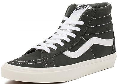 Vans SK8 Hi Charcoal White Mens Suede Skate Trainers  Amazon.co.uk ... d7912b54a
