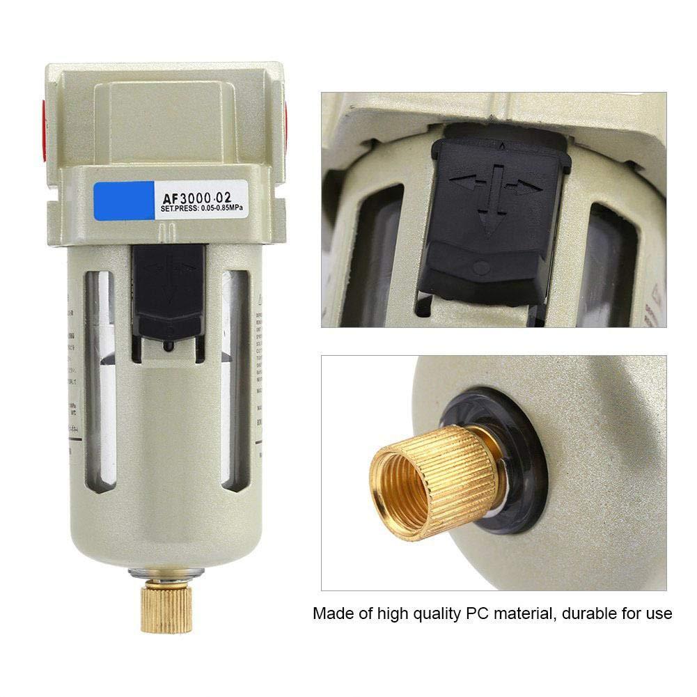 Separatore acqua olio separatore olio 1pc 1//4  PC Filtro aria separatore acqua olio 1500L Min 1.0mpa Sostituzione 1//4Porta