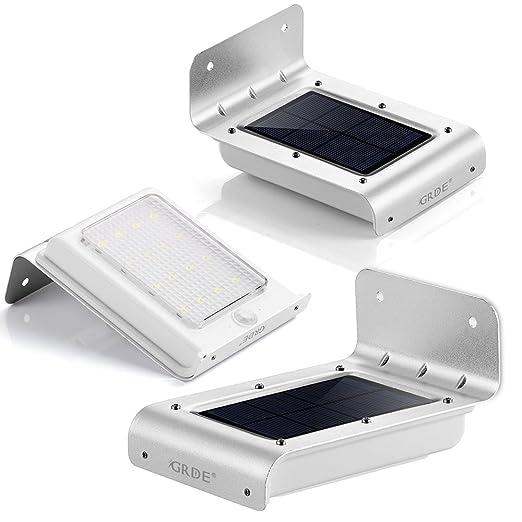 43 opinioni per Illuminazione Giardino Solare con Sensore di Movimento GRDE® 160lM Lampade da
