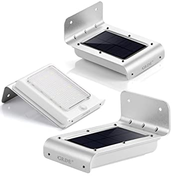 Grde solar wall lights 16 led outdoor solar motion sensor lights grde solar wall lights 16 led outdoor solar motion sensor lights solar powered wireless waterproof mozeypictures Gallery