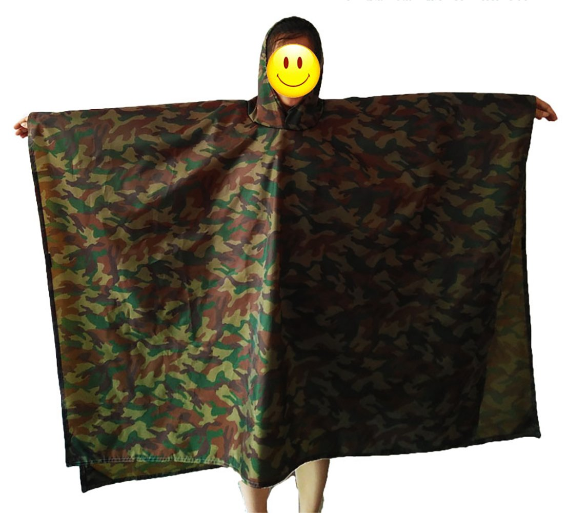 ITTA Large 3-in-1 Purpose Outdoor Camouflage Rip-Stop Military Multifunction Waterproof Raincoat Jungle Tactical Poncho Yayihe