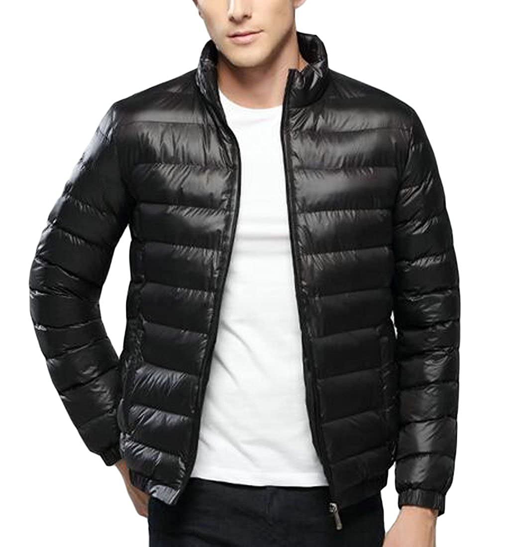 Hokny TD Mens Basic Solid Color Lightweight Packable Down Jacket Puffer Coat