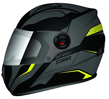 Stormer casco integral Swift Hexa talla amarillo color gris mate, talla M
