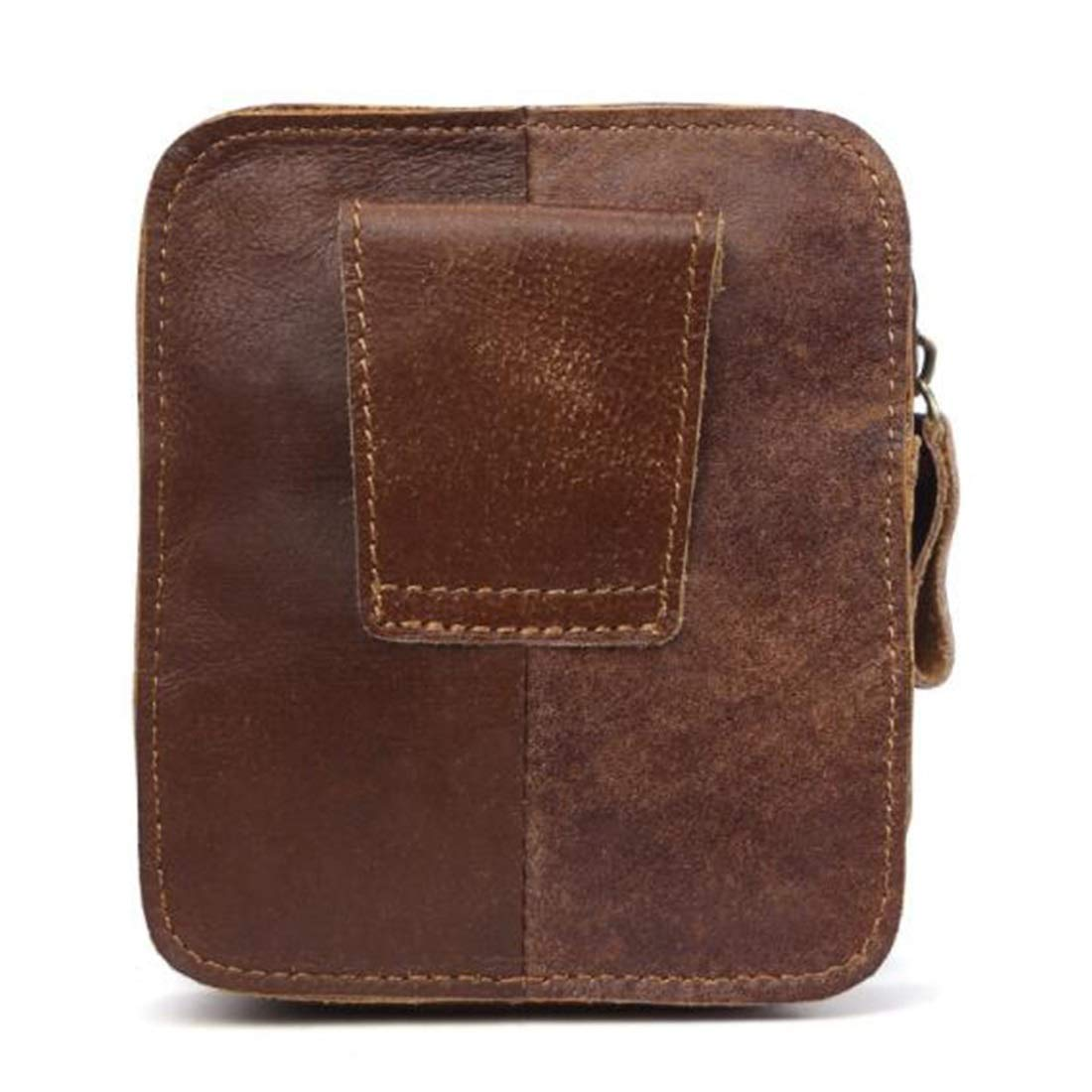 Color : B Adams chad West Bag Waist Pouch Body Bag Out go Mens Leather Made Large Capacity Belt Threading Possible