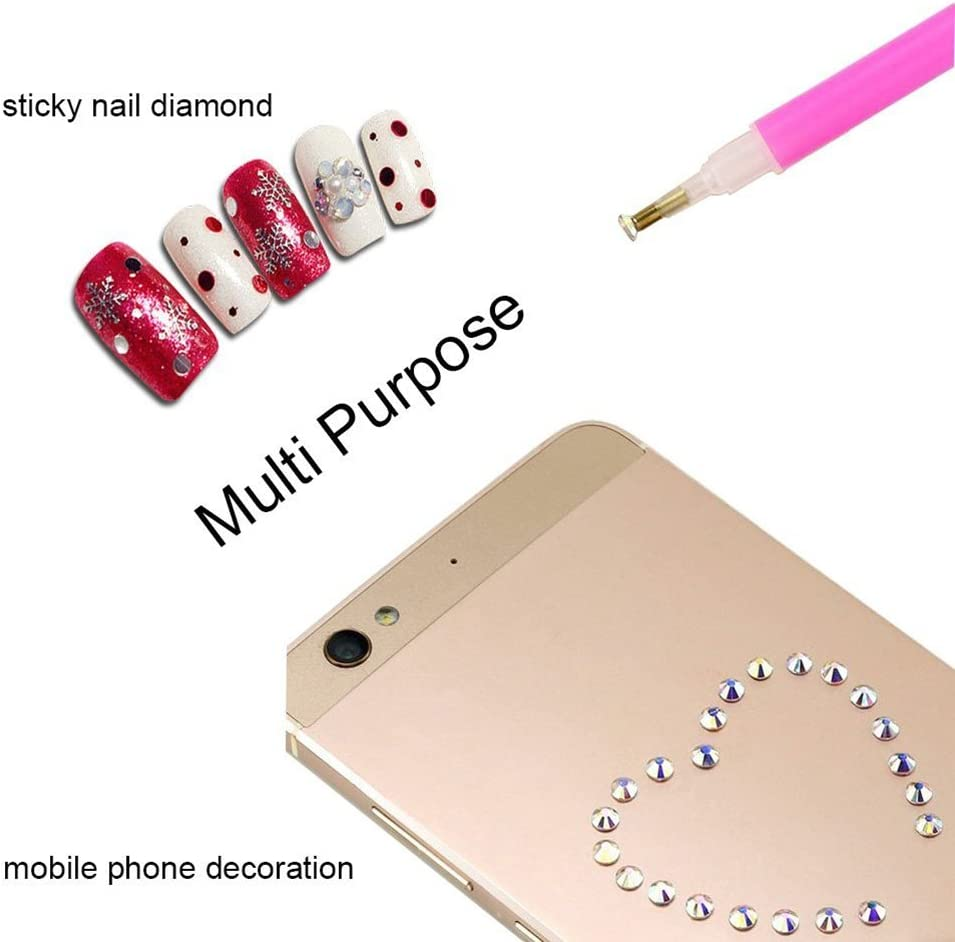 Healifty 66 Pcs DIY 5D Diamant Peinture Point De Croix Outil Set Diamant Point Pincette Pinc/ée Colle Diamant Bo/îte De Broderie