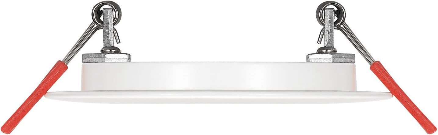6 Watts Energy Star Wet Rated Fixed Flood IC Rated 91125 Globe Electric 3 LED Integrated Ultra Slim Recessed Lighting Kit 4-Pack Dimmable White Finish