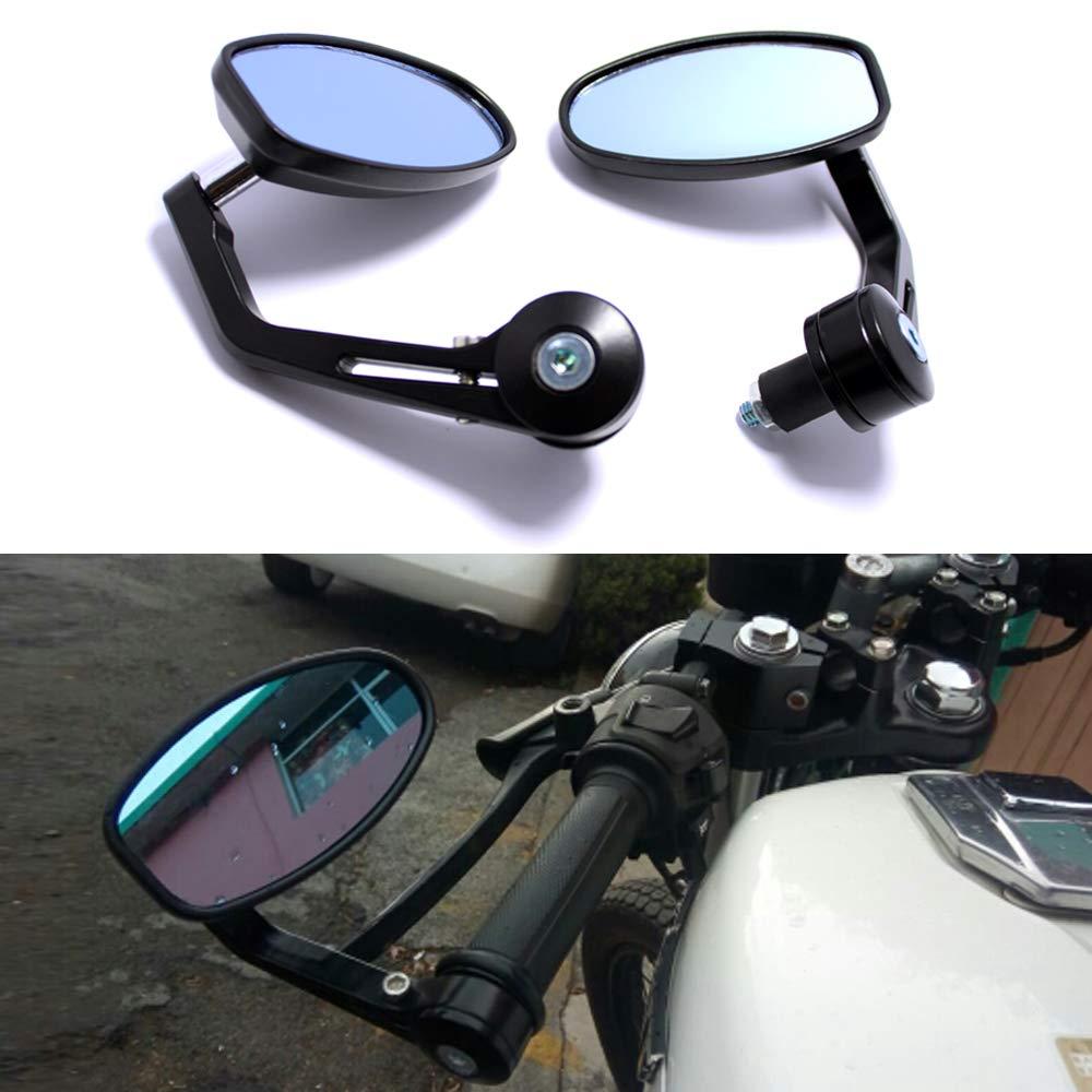 R/étroviseurs Moto Universels 7//8guidon 22mm R/étroviseurs Moto Noir