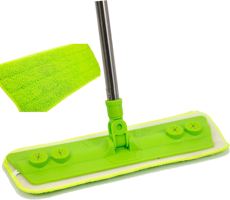 Mopas de microfibra verde con palo
