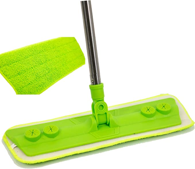 MICROFIBRE MOP HEAD REFILL REPLACEMENT DUST CLOTH WASHABLE CLEANING PAD