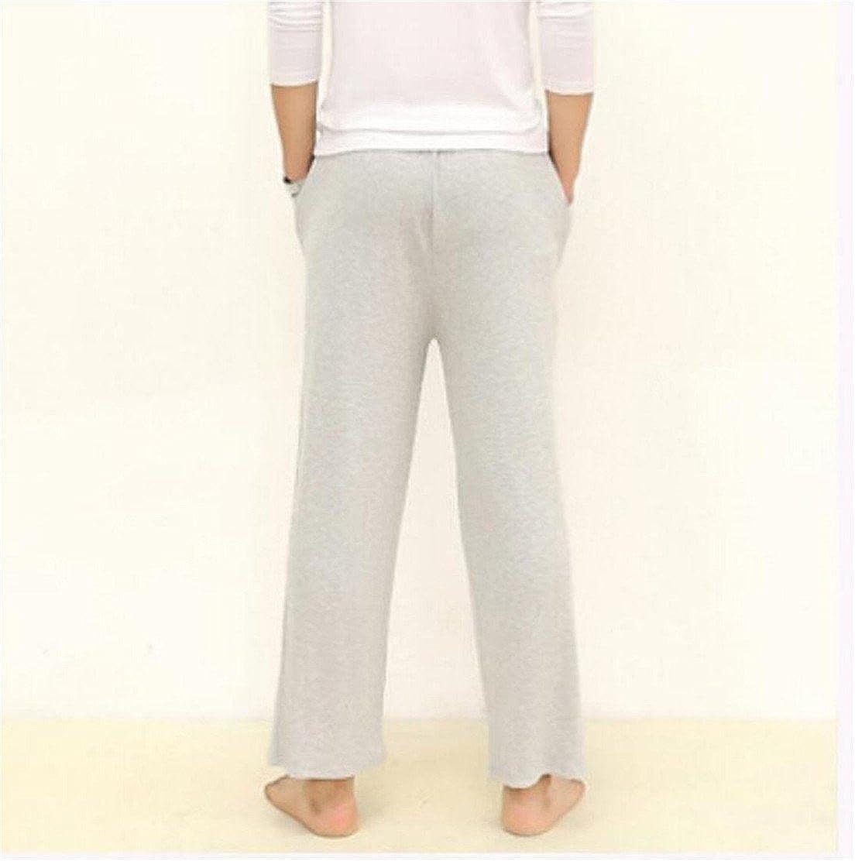 Nanquan-men clothes NQ Mens Fashion Elastic Waist Pocket Cotton Soft Straight Leg Pants