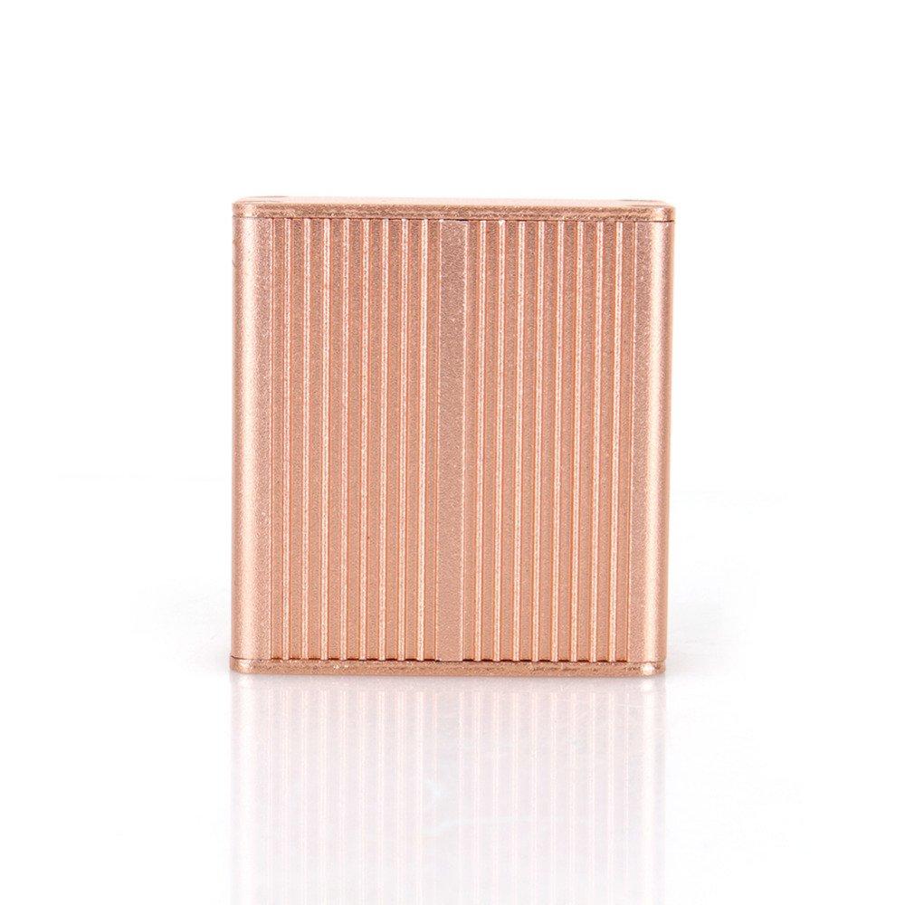 New Aluminum PCB Instrument Box Gold Color DIY Enclosure Electronic Project Case Storage Cases