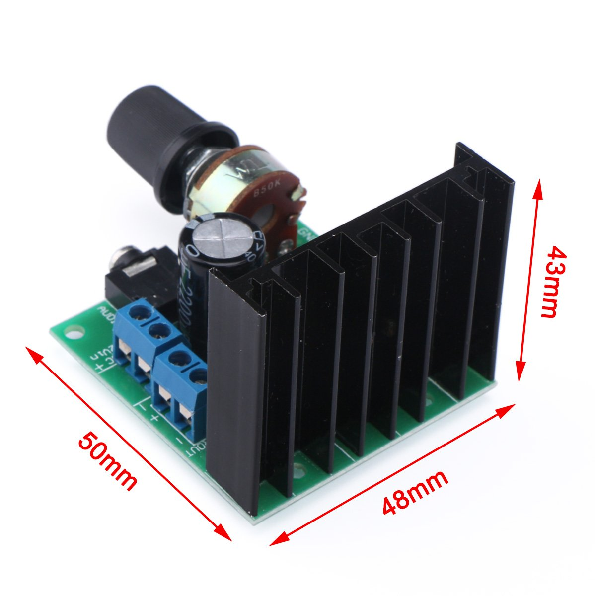 Drok Tda7297 15w Audio Power Amplifier Module Ac Dc Audioamp Board The Features A Lm386 9 18v 20 Dual Channel Stereo Amp Diy Sound System Component Electronics