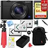 Sony Cyber-shot DSC-RX100 III 20.2 MP Digital Camera with 1 Year Extended Warranty Plus 64GB Triple Battery Bundle