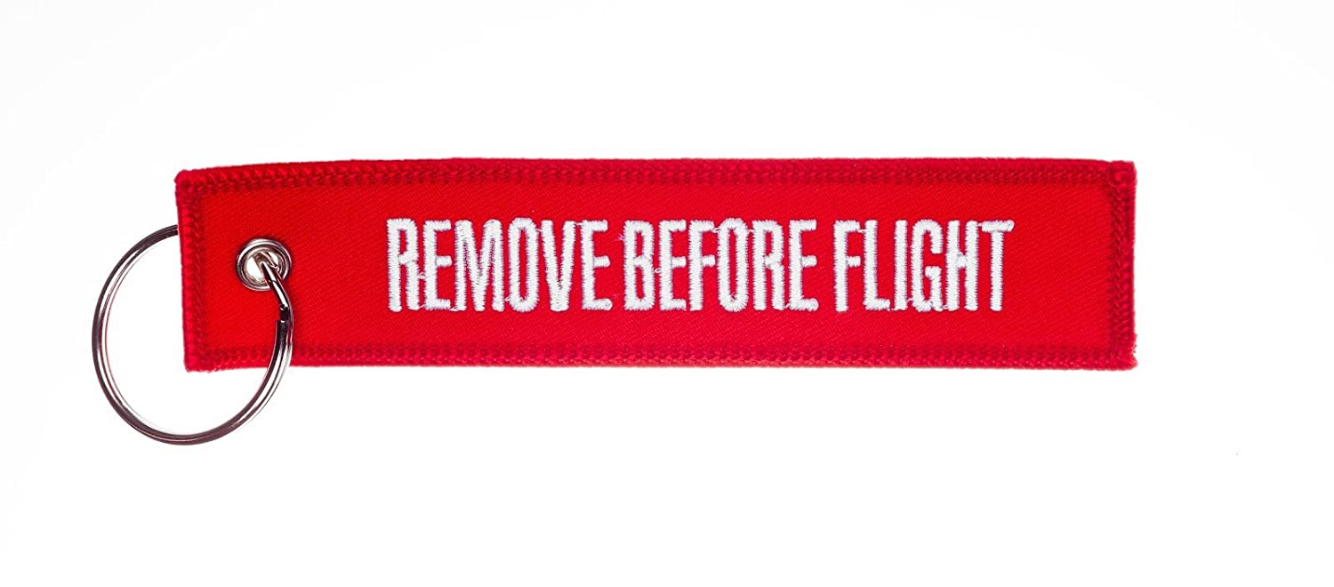REMOVE BEFORE FLIGHT   -- High Quality Luggage   keychain tag incl. chrome  keyring 8682ce4043fa