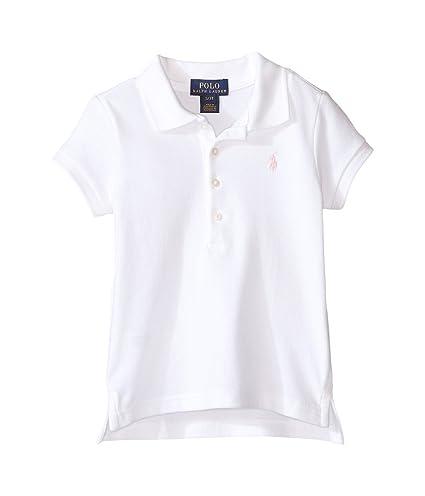 e4ed2afe0e9ab Amazon.com   Polo Ralph Lauren Kids Short Sleeve Mesh Polo Shirt Toddler  White Girl s Short Sleeve Knit   Everything Else