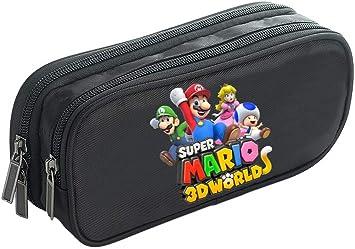 Super Mario Estuche de Lápices Impreso con una Bolsa de lápiz con Cremallera Estuches de lápices multifunción de Gran Capacidad (Color : Black07, Size : 21 X 7 X 10cm): Amazon.es: Equipaje