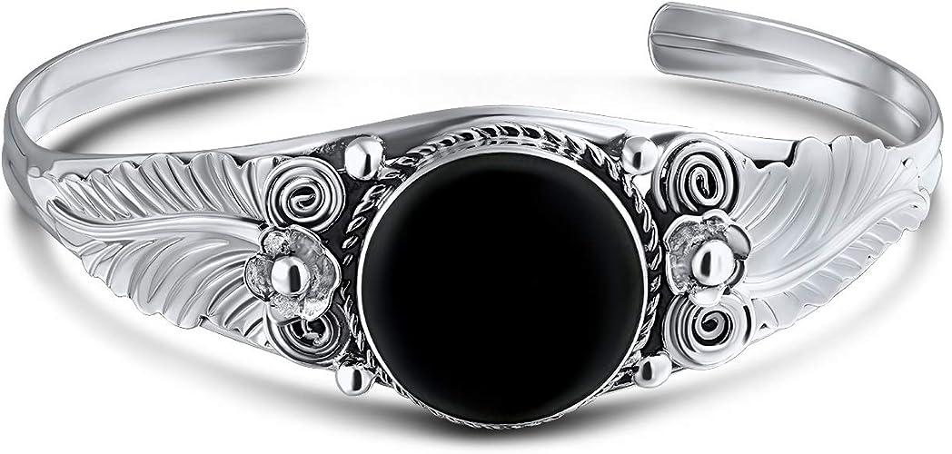 Onyx Bracelet Gift For Her Boho Jewelry Vintage Silver Bracelet,925 Sterling Silver Bracelet Gift For Him Black Onyx Silver Bracelet