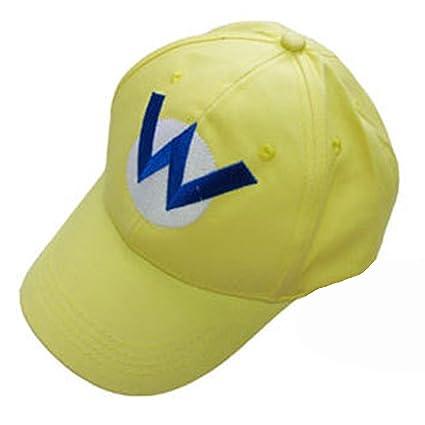 f71db14bee45 Amazon.com: Super Mario Bros Wario Cap W Sport Baseball Hat Summer ...