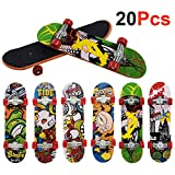 Ispeedytech 20pcs Professional Mini Metal Fingerboards/ Finger Skateboard, Unique Matte Surface (Random Pattern)