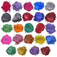 feelingood Epoxy Resin Color Pigment - Mica Powder Epoxy Resin Dye, Cosmetic Grade Soap Colorant for Soap Making Supplies, Natural Slime Coloring Soap Dye for Paint,Nail Art,Bath Bomb
