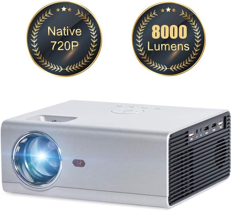 Ai LIFE Mini proyector WiFi 8000 lúmenes Resolución nativa 720P ...