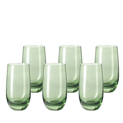 Leonardo 014905 Juego de 6 Vasos para Agua Grande Sora, Apto para ...