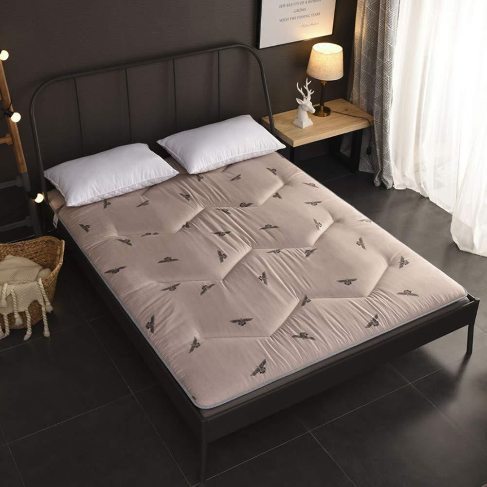 F 100x200x5cm(39x79x2inch) Fluffy Breathable Mattress, Japanese Tatami futon, Antibacterial Anti-mite Comfortable Double Sleeping pad Mattress Topper-A 120x200x5cm(47x79x2inch)