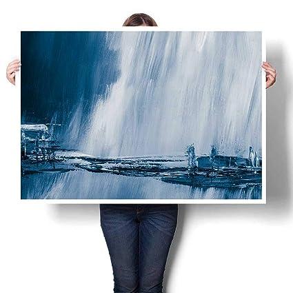 Amazon Com Scocici1588 1 Piece Wall Art Painting Blue