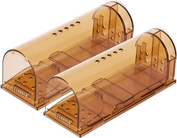 VENSMILE ねずみとり ネズミ捕獲器 最新版捕獲カゴ ネズミ捕り 子ねずみ捕獲器 マウストラップ 無毒無害 設置簡単 再利用可能(2個セット)