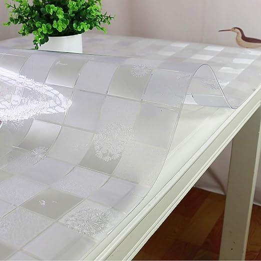 ZMIN PVC Transparente Mantel,Rectangular Impermeable Aceite-Prueba ...