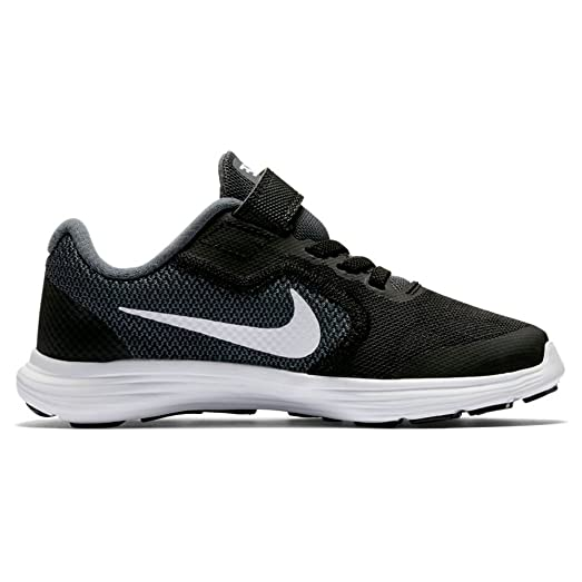 Nike Boy's Revolution 3 Wide Pre-School Shoe Dark Grey/White/Black/
