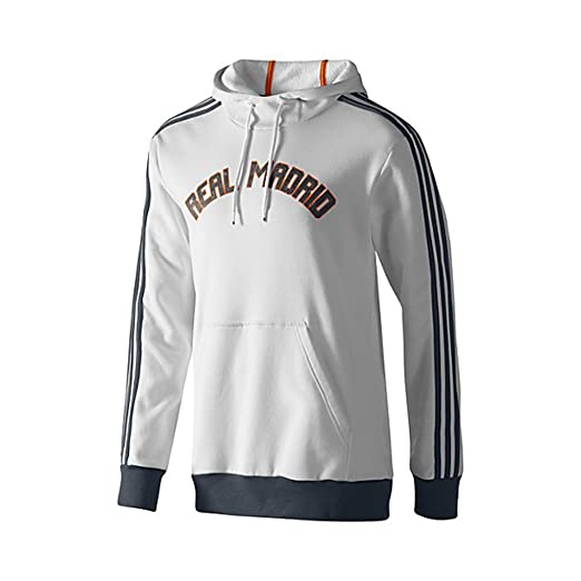 Amazon.com   Adidas Real Madrid Core Hoodie 2013-14 (White) (2XL ... 4d7ded091
