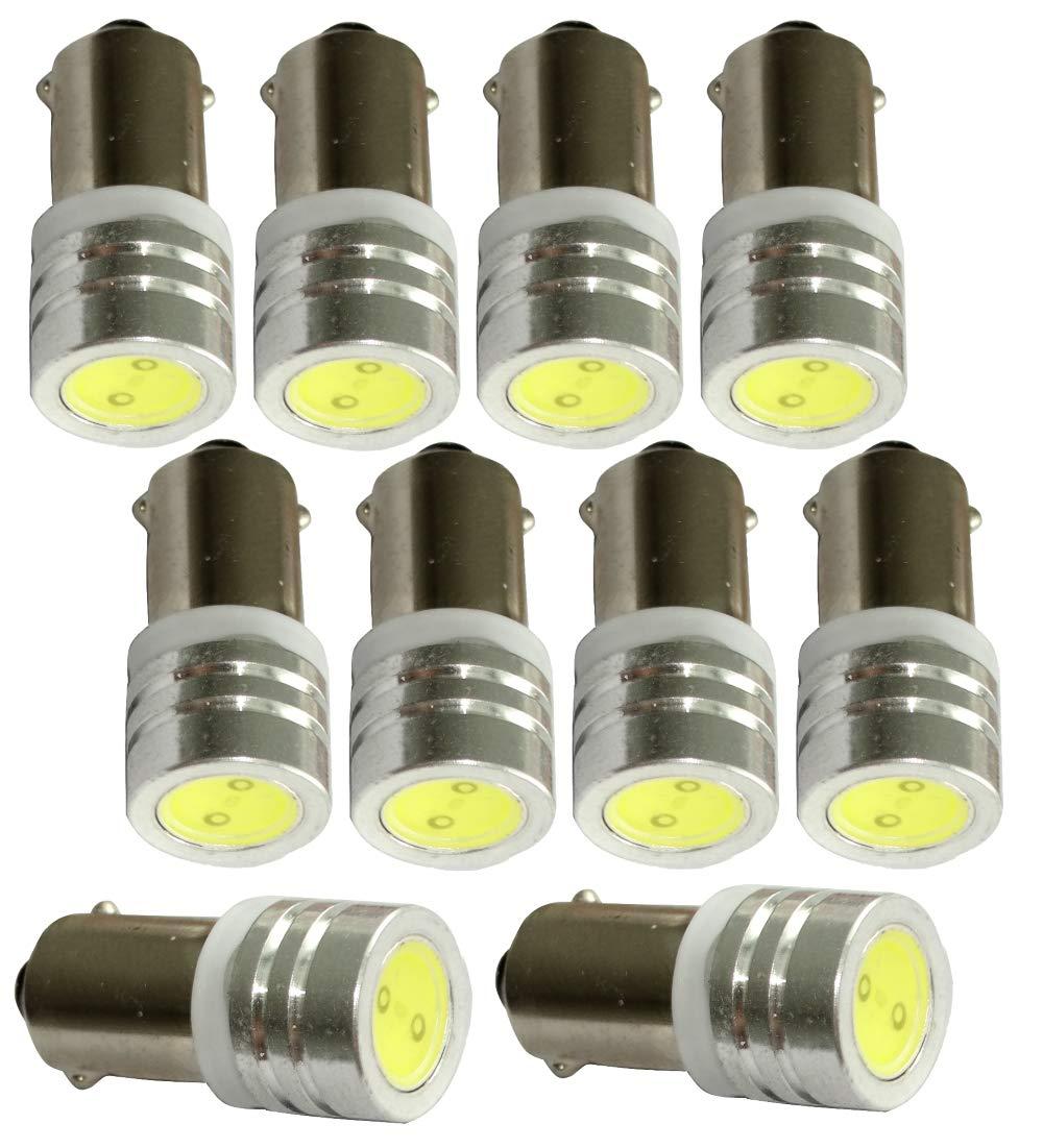 luz del techo luces umbrales de puertas AERZETIX: 10 x Bombillas T4W T5W BA9s 12V LED HIGH POWER 1W blanco con efecto Xenon para iluminacion interior luz de matricula del compartimiento del motor y del maletero