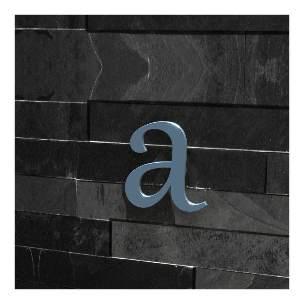 Edelstahl geb/ürstet a H/öhe: 20-30 cm , 20 cm Schriftart: Klassisch Colours-Manufaktur Hausnummer Nr viele Farben w/ählbar