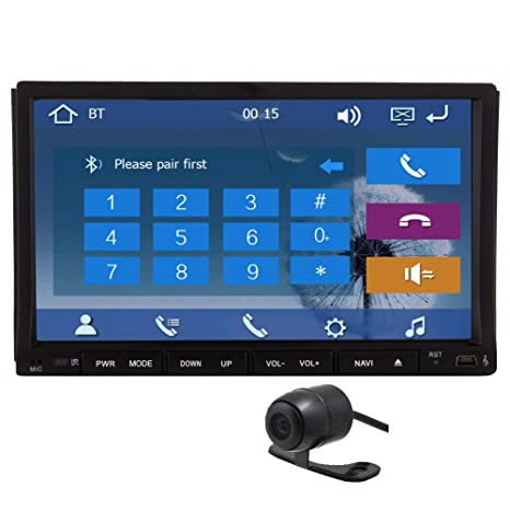C¨¢mara del Rev¨¦s HD Eincar Doble 2 DIN GPS Dash