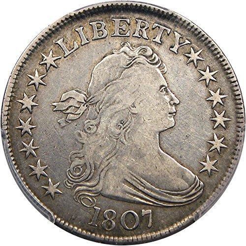 1807 P Bust Half Dollars Draped Bust Half Dollar VF25 PCGS (David Lawrence Rare Coins)