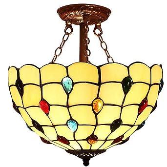 Tiffany de tipo de Hängende lámpara, grano de diseño de ...