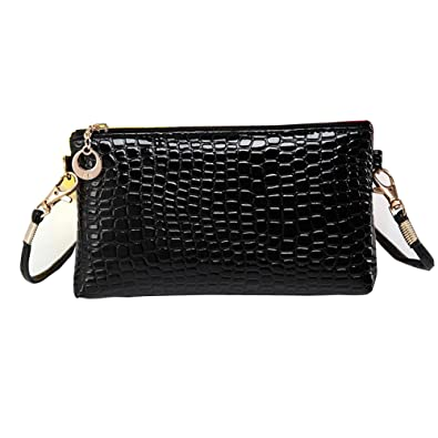 Ladies Mini Small Handbag Crossbody Shoulder Messenger Bag By Quistal  (Black) 630ecbf944e51