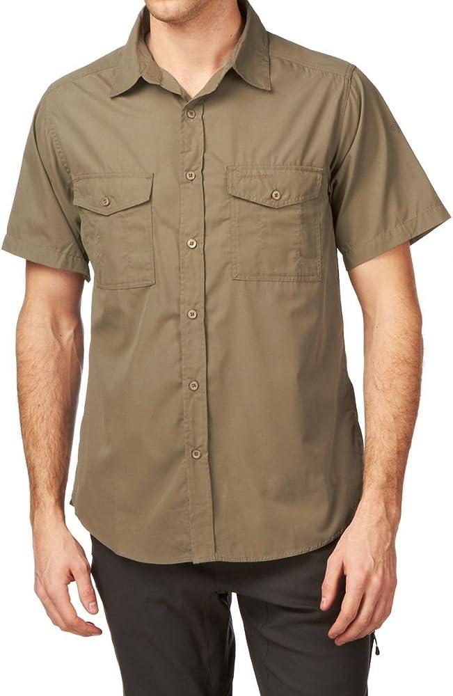 Craghoppers Kiwi camisa de manga corta., Hombre, color beige, tamaño small: Amazon.es: Jardín