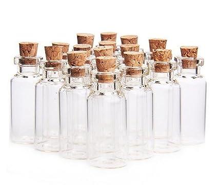 be29fec04081 ericotry 24 Pcs 10ml Mini Glass Jars Bottles with Cork Stoppers Wish  Bottles Message Bottles Spice Storage Glass with Vials Cork Stoppers  Wedding ...