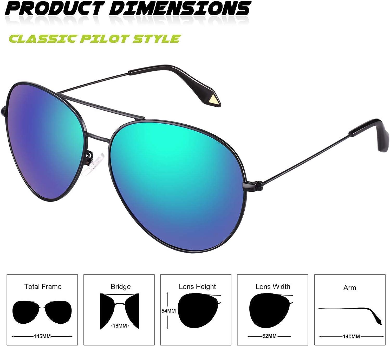 GQUEEN Premium completa refleja el aviador gafas de sol polarizadas MZZ9