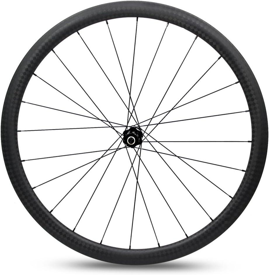 Yuanan - Rueda de Carbono para Bicicleta de Carretera (38 mm, 700C ...