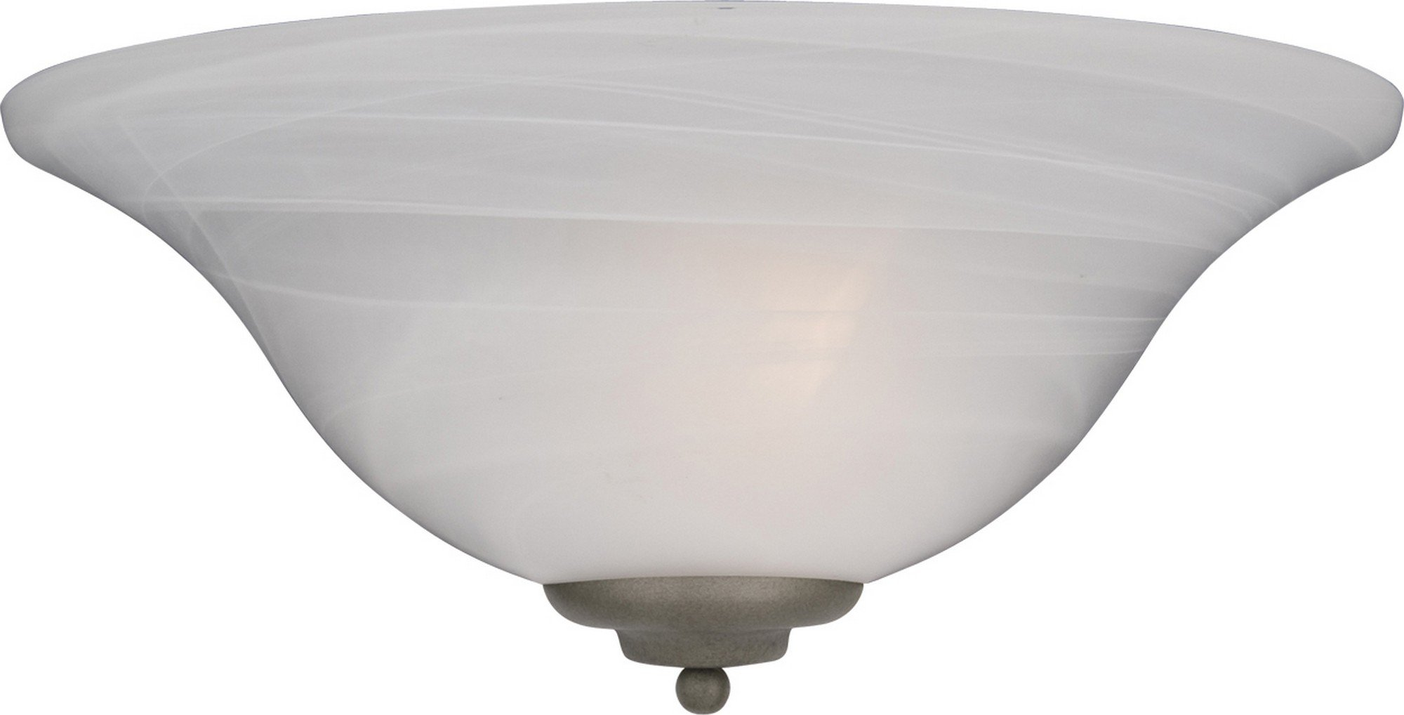 Maxim 20582MRPE Essentials 1-Light Wall Sconce, Pewter Finish, Marble Glass, MB Incandescent Incandescent Bulb , 40W Max., Dry Safety Rating, 2900K Color Temp, Standard Dimmable, Glass Shade Material, 9000 Rated Lumens by Maxim Lighting (Image #1)