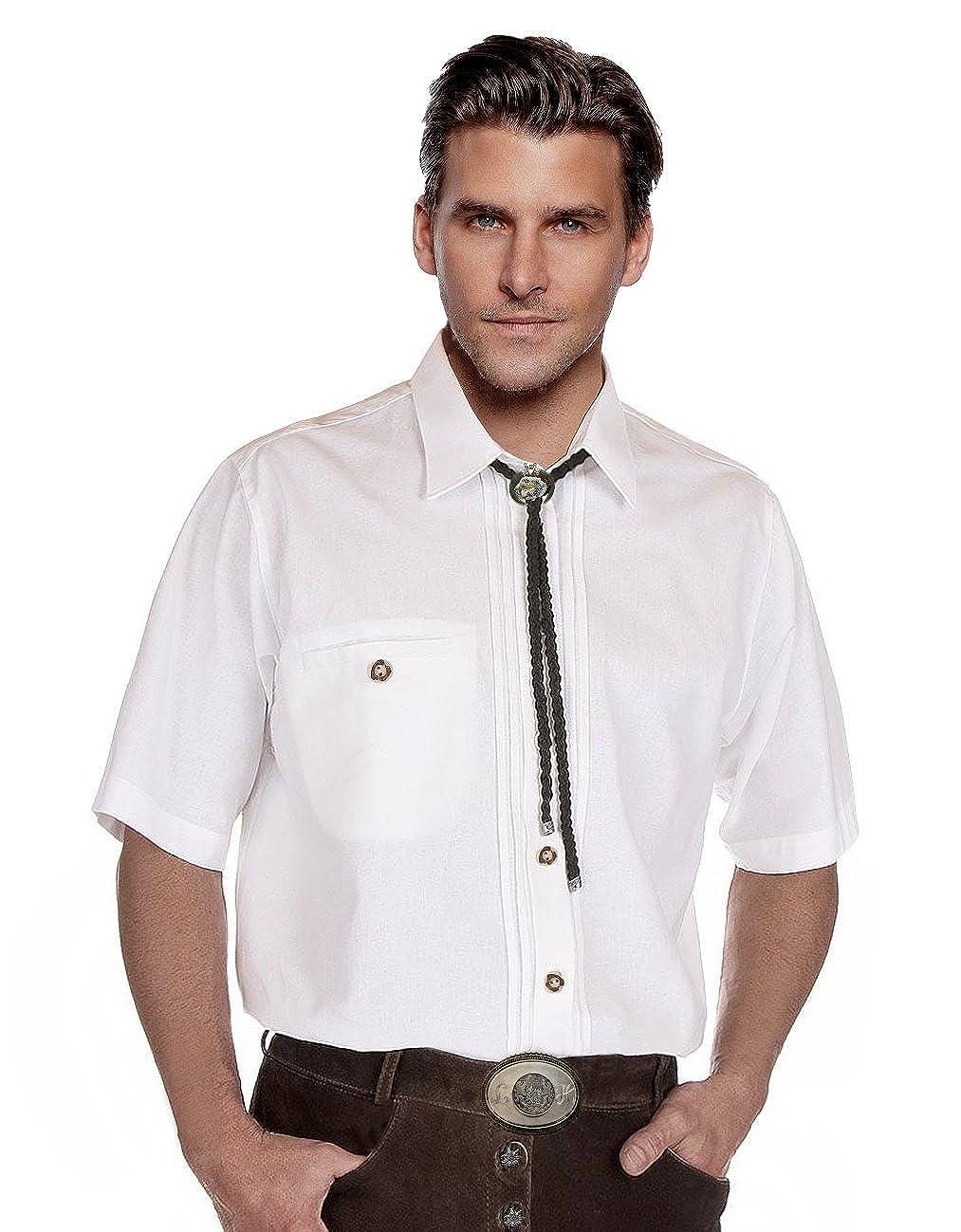 Moschen-Bayern Herren Hemd Trachtenhemd Langarm Kurzarm Wiesn Hemd Trachten M/änner Oktoberfest Wei/ß