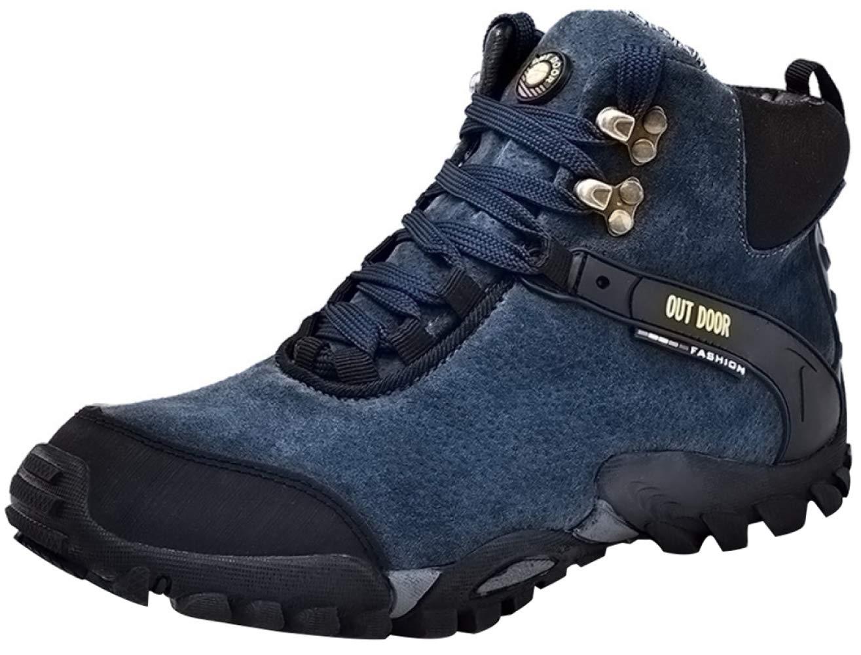 RSHENG Schuhe Stiefel Für Herren-Wanderschuhe Leichte Rutschfeste Warme Futter-Schneeschuhe